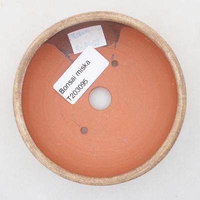 Ceramiczna miska bonsai 10 x 10 x 3 cm, kolor beżowy - 3