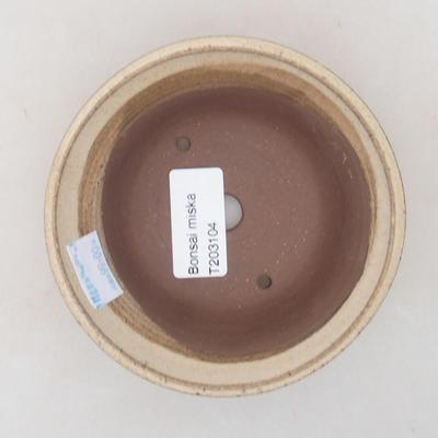 Ceramiczna miska bonsai 11 x 11 x 4,5 cm, kolor beżowy - 3