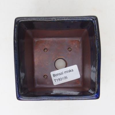 Ceramiczna miska bonsai 9 x 9 x 9 cm, kolor niebieski - 3