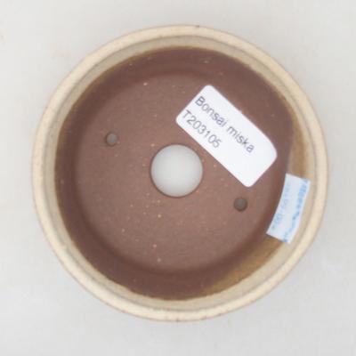 Ceramiczna miska bonsai 10 x 10 x 3,5 cm, kolor beżowy - 3