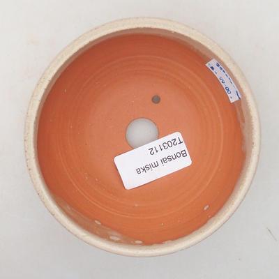 Ceramiczna miska bonsai 10 x 10 x 5 cm, kolor beżowy - 3