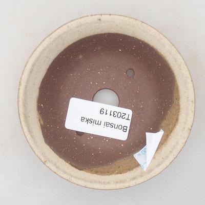 Ceramiczna miska bonsai 9 x 9 x 3 cm, kolor beżowy - 3