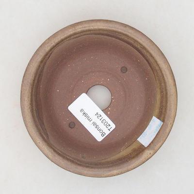 Ceramiczna miska bonsai 11 x 11 x 3,5 cm, kolor brązowy - 3