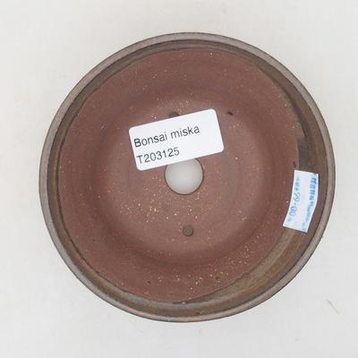 Ceramiczna miska bonsai 10,5 x 10,5 x 5 cm, kolor brązowy - 3