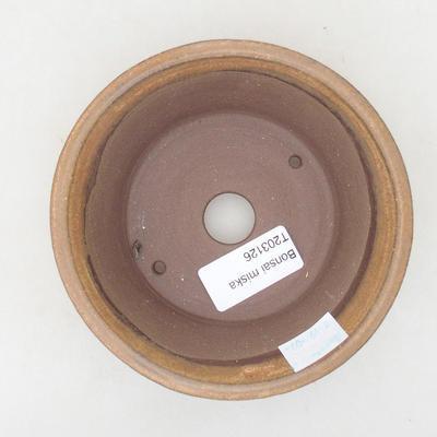 Ceramiczna miska bonsai 12 x 12 x 4 cm, kolor brązowy - 3