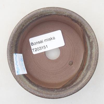 Ceramiczna miska bonsai 9 x 9 x 2,5 cm, kolor szary - 3