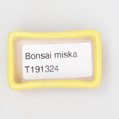 Mini miska bonsai 4,5 x 3 x 1,5 cm, kolor żółty - 3