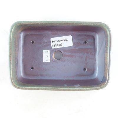 Ceramiczna miska bonsai 16 x 11 x 5,5 cm, kolor brązowo-zielony - 3