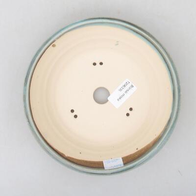 Ceramiczna miska bonsai 18,5 x 18,5 x 5 cm, kolor zielony - 3