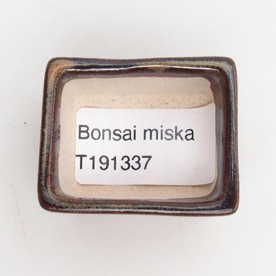 Mini miska bonsai 4 x 3,5 x 2,5 cm, kolor brązowy - 3