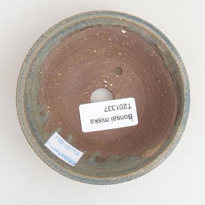 Ceramiczna miska bonsai 10 x 10 x 3 cm, kolor niebieski - 3
