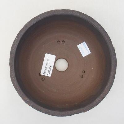 Ceramiczna miska bonsai 15 x 15 x 8,5 cm, kolor spękany - 3