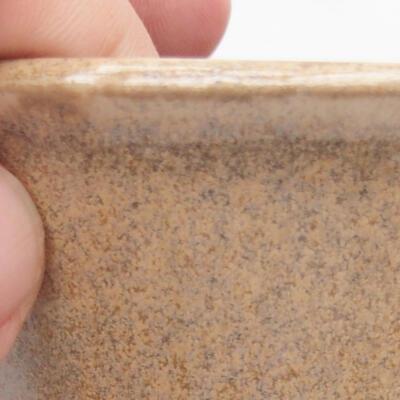 Ceramiczna miska bonsai 11 x 11 x 7 cm, kolor beżowy - 3