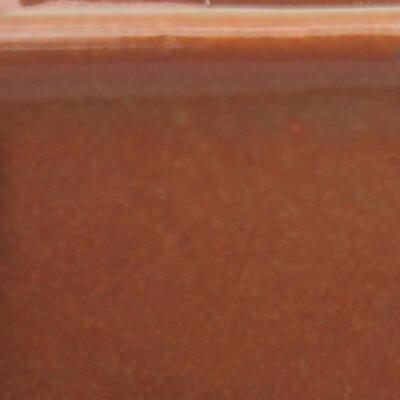 Ceramiczna miska bonsai 10 x 10 x 6,5 cm, kolor szaro-rdzawy - 3