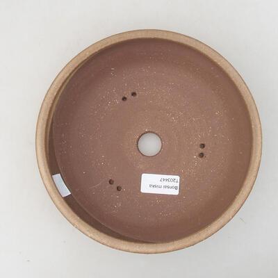 Ceramiczna miska bonsai 20 x 20 x 5,5 cm, kolor brązowy - 3