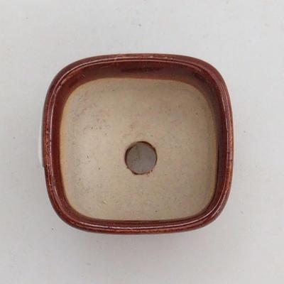 Miska mini bonsai 2,5 x 2,5 x 2 cm, kolor brązowy - 3
