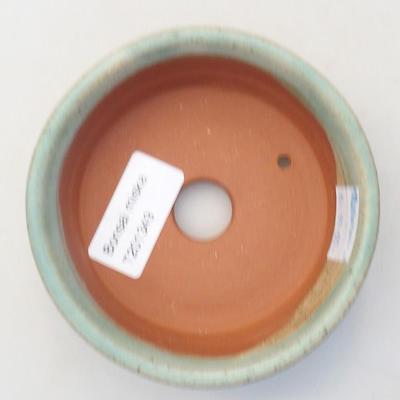 Ceramiczna miska bonsai 10 x 10 x 3,5 cm, kolor zielony - 3