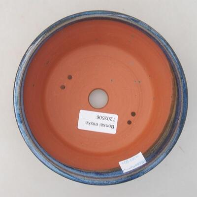Ceramiczna miska bonsai 15 x 15 x 5 cm, kolor niebieski - 3