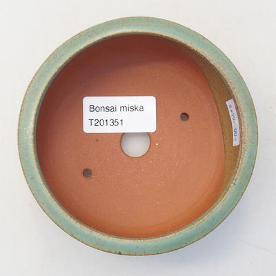 Ceramiczna miska bonsai 10 x 10 x 4,5 cm, kolor zielony - 3