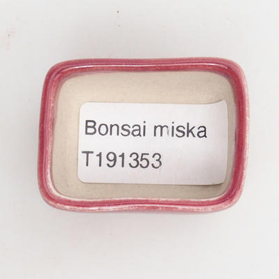 Mini miska bonsai 4,5 x 3 x 2 cm, kolor czerwony - 3