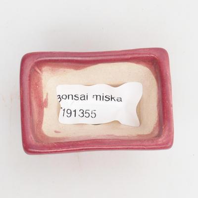 Mini miska bonsai 5,5 x 4 x 3 cm, kolor czerwony - 3