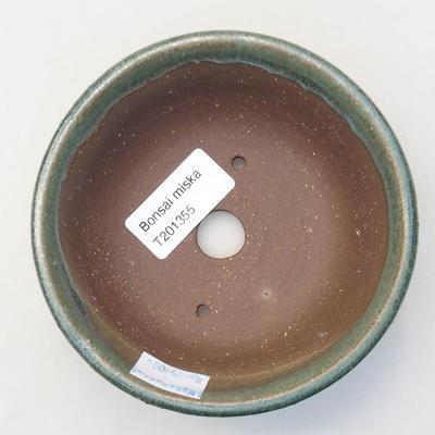 Ceramiczna miska bonsai 11,5 x 11,5 x 4 cm, kolor zielony - 3