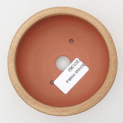 Ceramiczna miska bonsai 10 x 10 x 4 cm, kolor beżowy - 3