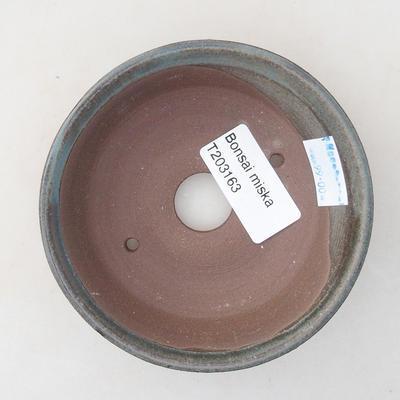 Ceramiczna miska bonsai 10 x 10 x 2,5 cm, kolor zielony - 3