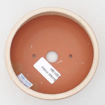 Ceramiczna miska bonsai 11,5 x 11,5 x 4 cm, kolor beżowy - 3
