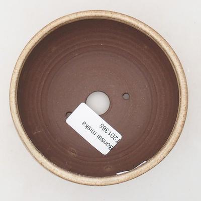 Ceramiczna miska bonsai 10,5 x 10,5 x 5 cm, kolor beżowy - 3