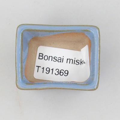 Mini miska bonsai 4 x 3 x 2,5 cm, kolor niebieski - 3