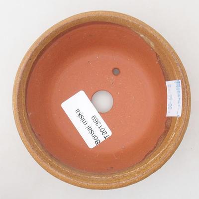 Ceramiczna miska bonsai 10,5 x 10,5 x 4 cm, kolor brązowy - 3