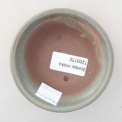 Ceramiczna miska bonsai 9 x 9 x 3 cm, kolor zielony - 3