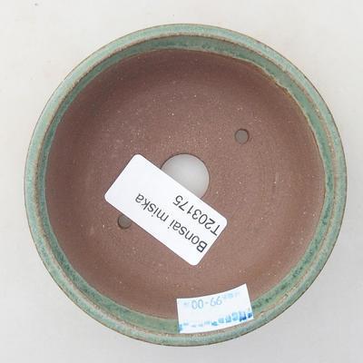 Ceramiczna miska bonsai 9,5 x 9,5 x 2,5 cm, kolor zielony - 3