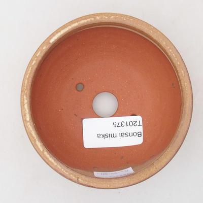 Ceramiczna miska bonsai 9,5 x 9,5 x 4 cm, kolor brązowy - 3