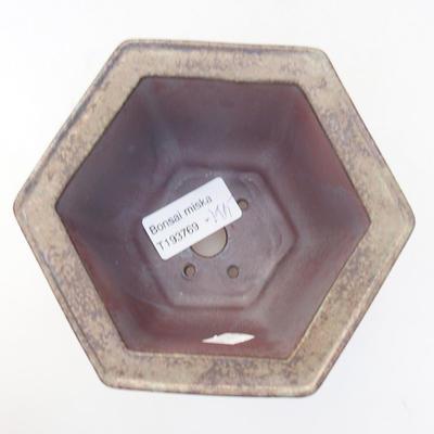Ceramiczna miska bonsai 12,5 x 11 x 7,5 cm, kolor szary - 3