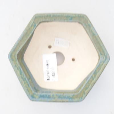 Ceramiczna miska bonsai 11,5 x 10,5 x 4 cm, kolor zielony - 3
