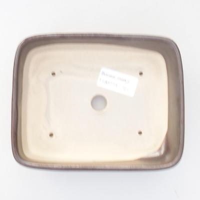 Ceramiczna miska bonsai 15,5 x 12,5 x 4,5 cm, kolor szary - 3