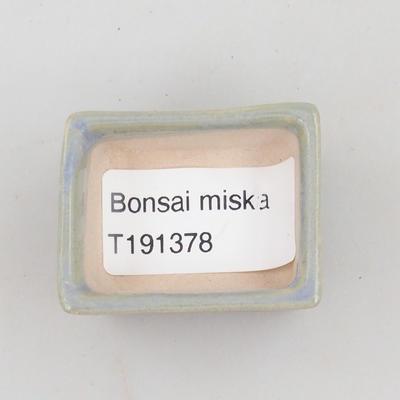 Mini miska bonsai 4 x 3,5 x 2 cm, kolor niebieski - 3
