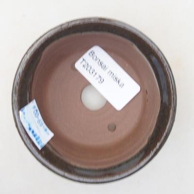 Ceramiczna miska bonsai 8 x 8 x 3,5 cm, kolor zielony - 3