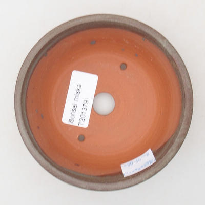 Ceramiczna miska bonsai 11 x 11 x 4 cm, kolor szary - 3