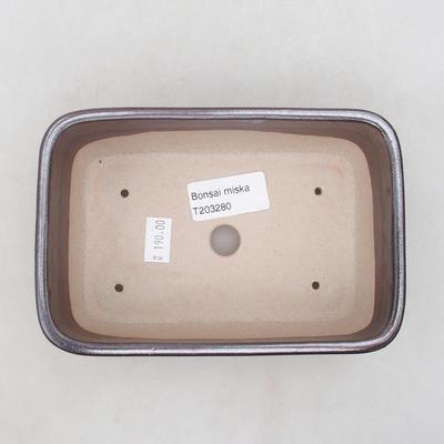 Ceramiczna miska bonsai 16 x 10 x 5,5 cm, kolor brązowy - 3
