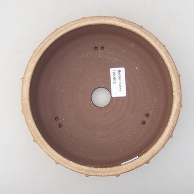 Ceramiczna miska bonsai 18 x 18 x 5 cm, kolor beżowy - 3