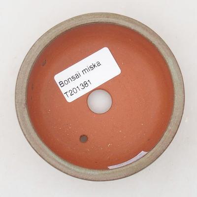 Ceramiczna miska bonsai 9 x 9 x 3,5 cm, kolor szary - 3