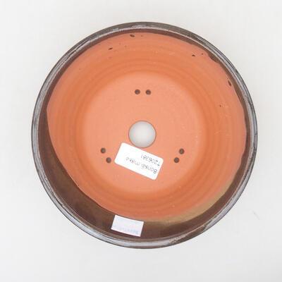 Ceramiczna miska bonsai 16,5 x 16,5 x 6 cm, kolor brązowy - 3