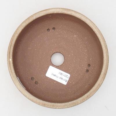 Ceramiczna miska bonsai 15,5 x 15,5 x 4 cm, kolor beżowy - 3