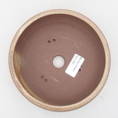 Ceramiczna miska bonsai 16 x 16 x 5,5 cm, kolor beżowy - 3