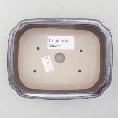 Ceramiczna miska bonsai 14 x 11 x 4 cm, kolor brązowy - 3