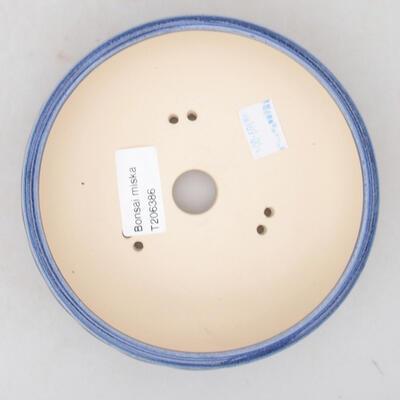Ceramiczna miska bonsai 13,5 x 13,5 x 5,5 cm, kolor niebieski - 3