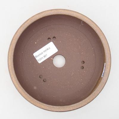 Ceramiczna miska bonsai 15 x 15 x 5 cm, kolor brązowy - 3